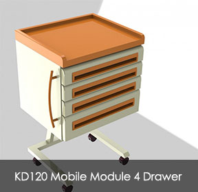 KD120MobileModule4Drawer